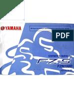 Yamaha FZ-S 2.0 FZN150D manual