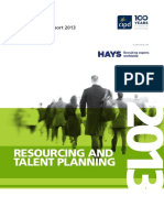 Resourcin and Talent Planning Report- CIPD 2013
