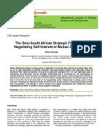 The Sino-South African Strategic Partnership