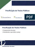 Precificação Dos Títulos Públicos