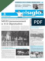 Edición Impresa El Siglo 03-01-2016