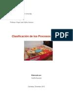 Clasificación de los Procesos de ECR (Kariña Guevara)