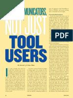 Communicators Not Tool Users