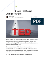Top 10 TED Talks That Could Change Your Life