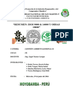 Informe PDF Normas Iso 9000, 14000 y Ohsas 18000