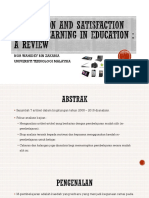 Motivation and Satisfaction Mobile Learning in Education