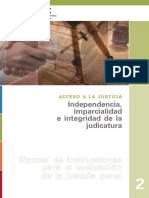 The Independence Impartiality and Integrity of the Judiciary Spanish