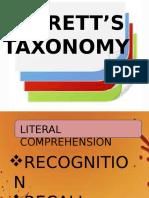 Barett Taxonomy New