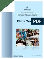 Ficha Tecnica Encuesta Nacional a Instituciones Educativas 2015