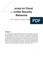 A Survey on Cloud Providers Security Measure