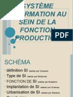 Système Information Au Sein de La Fonction Production (1)