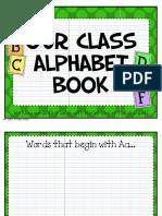 Alphabet Book Literacy Activity PDF