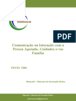 Ufcd - 7208 - Comunicação na Interação com a Pessoa Apoiada, Cuidador e/ou Família