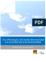 Geo-Estrategia y Economia Internacional. LA LOCURA DE LAS SANCIONES