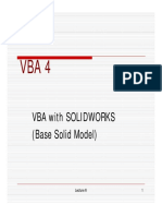VBA4 Solidwork Base Model