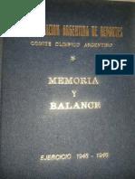 Memoria y Balance CAD-COA, 1945-46