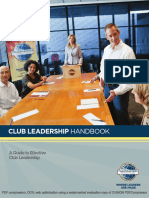 Toastmaster's Club Leadership Handbook