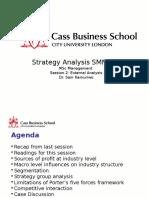 MSc Session 2 External Analysis