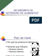 Mecanismos de Deterioro Alimentos DLBL