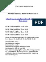 Math 533 Week 8 Final Exam