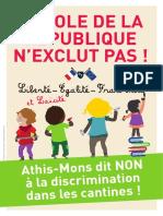 Cantines Athis- Mons Dit Non à La Discrimination