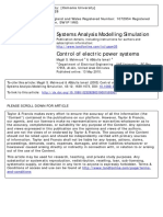 Control of Electric Power Systems