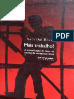 DAL ROSSO, Sadi. A construção histórica da noção de intensidade do trabalho