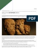 Application of Option Greeks