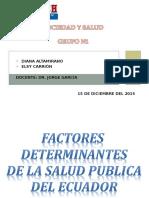 sociedad y salud  factores determinanates de la salud en ecuador