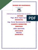 Elvis Tapia Curso 4 Grupo 3 - PortafolioEstructuraDatos