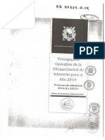 Documento Cotillo UNMSM - Presupuesto Examen de Admisión