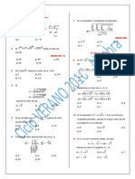 Algebra 2016 - I