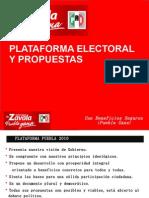 Plataforma Electoral y Propuestas