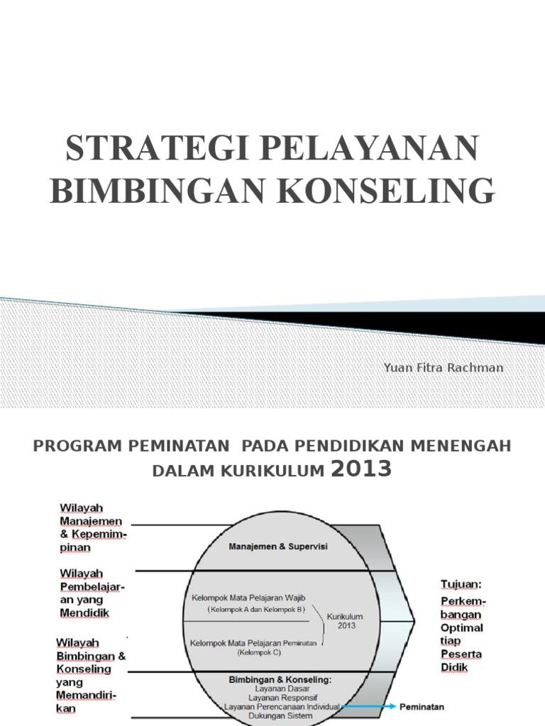 Strategi Pelayanan Bimbingan Konseling