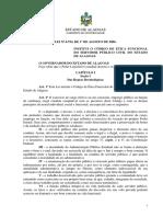 Código de Ética Funcional Do Servidor Público Civil - AL- Lei No 6.754 de 01-08-06