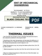Gas Turbine Blade Cooling Technique[1]