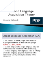 Second Language Acquisition Theory