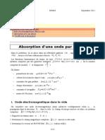Absorption OPPM Par Un Gaz