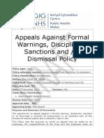 Appeals Against Formal Warnings Disciplinary Sanctions Andor Dismissal V0e 081210