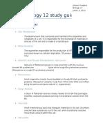 Biology 12 Study Guide