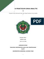 Laporan Akhir Praktikum Analitik 1