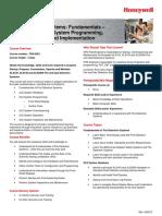 FDS 0001 en DES 439 R000 REV01 0 Fire Detection Systems Fundamentals XLS140 XLS3000 Sys Progrm Commission and Implm