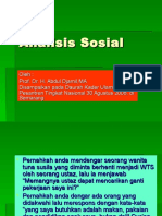 analisis sosial