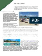Teritori Wisata Favorit pada Lombok