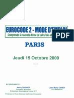 Comprednre l'Eurocode 2 Par H Thonier