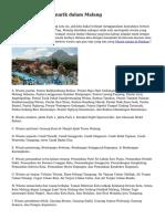 Teritori Wisata Menarik dalam Malang
