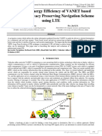 Improving Energy Efficiency of VANET Based Secure and Privacy Preserving Navigation Scheme using LTE