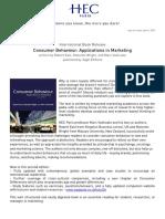 PR Book Release Consumer Behaviour Marc Vanhuele March2013