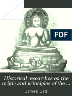 Historical Researches on the Origin And
