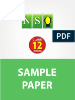 Class 12 Nso 5 Years Med Sample Paper
